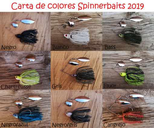 Carta colores spinnerbaits Chinesteta